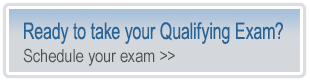click to schedule your qualifying exam
