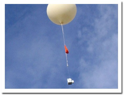 Weather Balloon In Air
