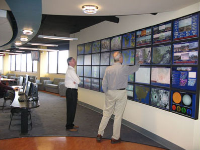 weather center map wall
