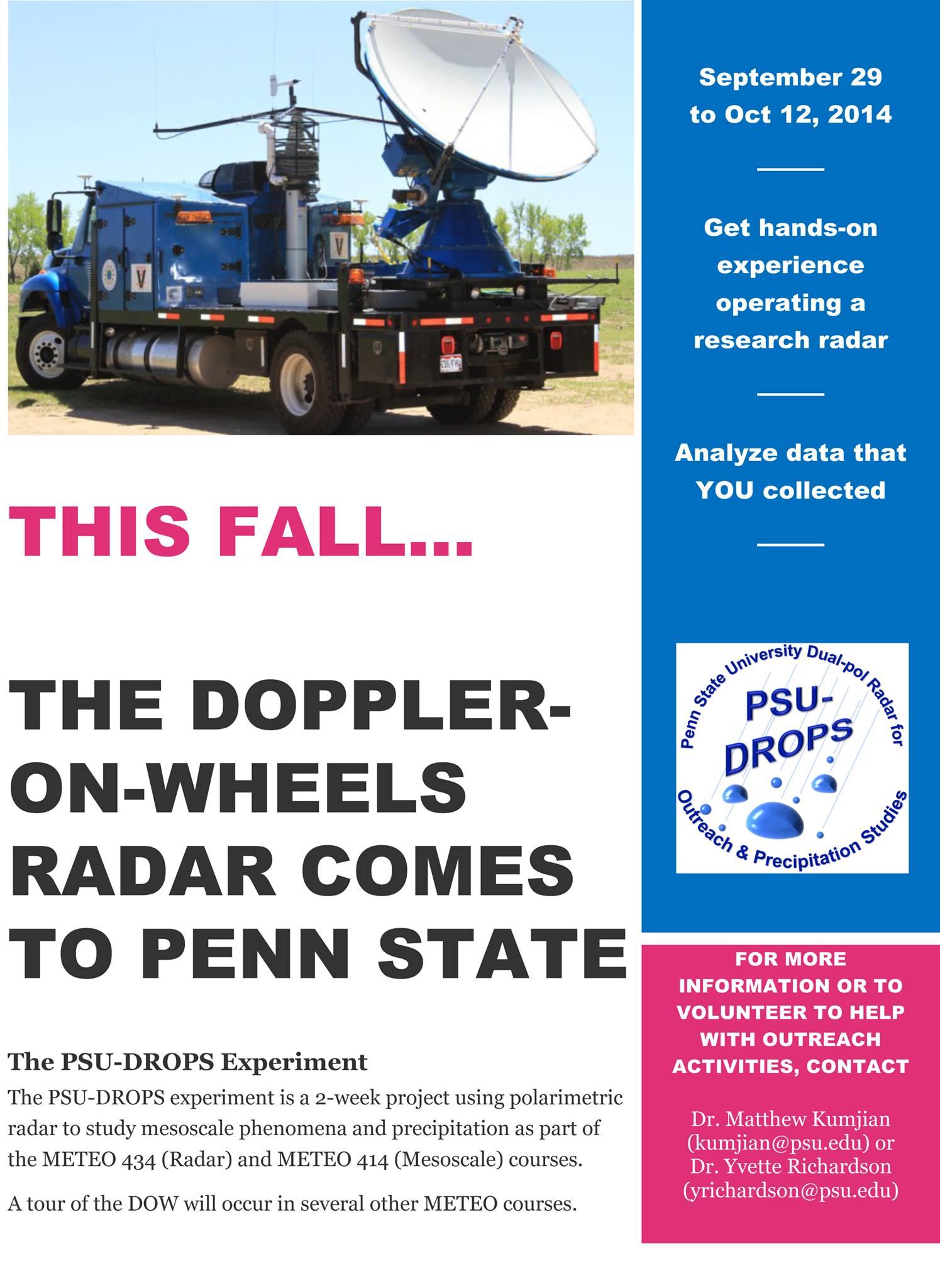 PSU-Drops Experiment