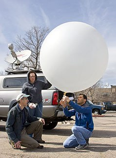 Vortex2 weather balloon launch