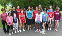 Alumnus Erica Grow (BS '02) talks at Math Options for Girls summer camp at Penn State Abington