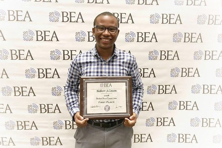 Robert Johnson named nation's best student TV weathercaster 2018