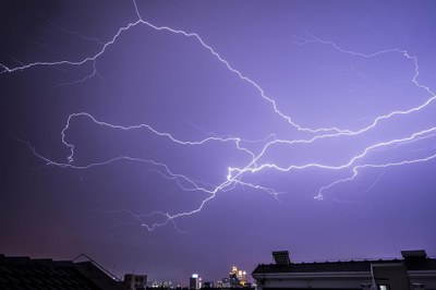 lightening over China