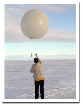 Balloon Launch in Antarctic